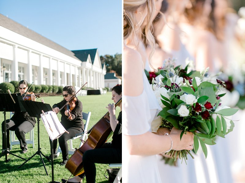 Outdoor wedding ceremony at Two Rivers Country Club in Coastal Virginia