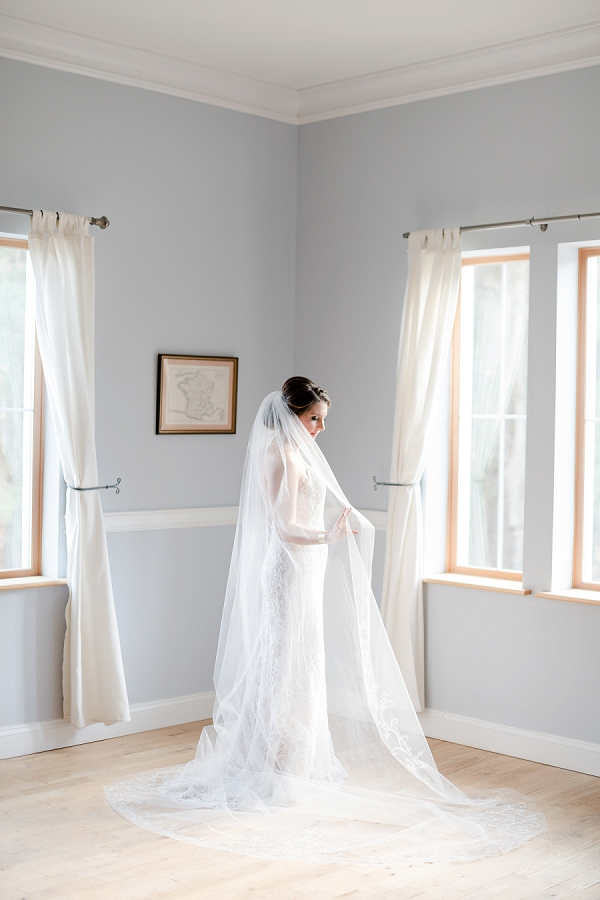 Cathedral length veil for a classic bride