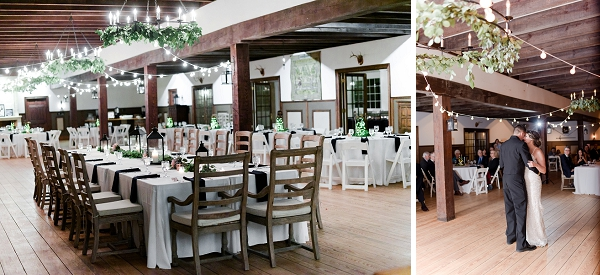 Williamsburg Winery wedding reception for military couple