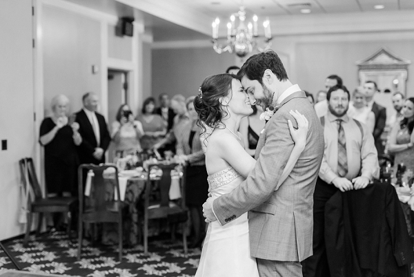 Bride and groom first dance in Williamsburg Virginia