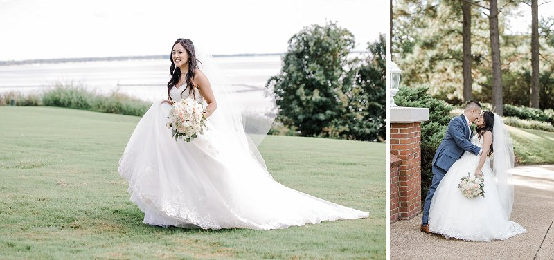 Classic and romantic Filipino wedding day at Kingsmill Resort in Williamsburg Virginia