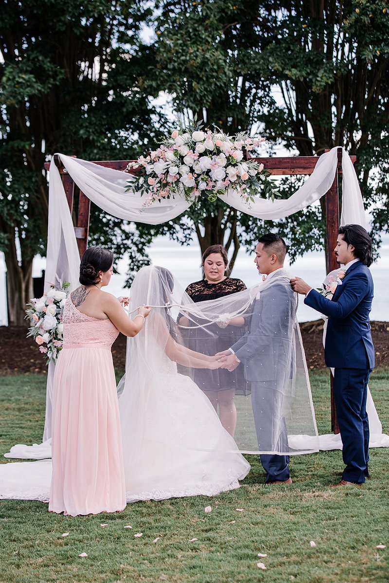 Filipino wedding ceremony traditions at Kingsmill Resort in Williamsburg Virginia