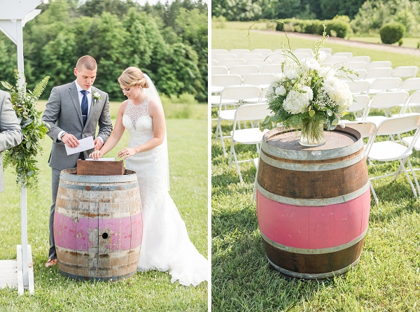 Bottle of wine wedding ceremony tradition