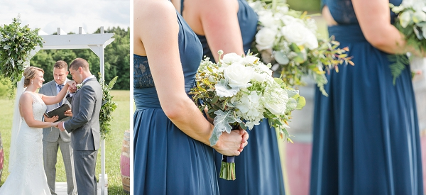 Williamsburg Winery wedding with blue and white colors