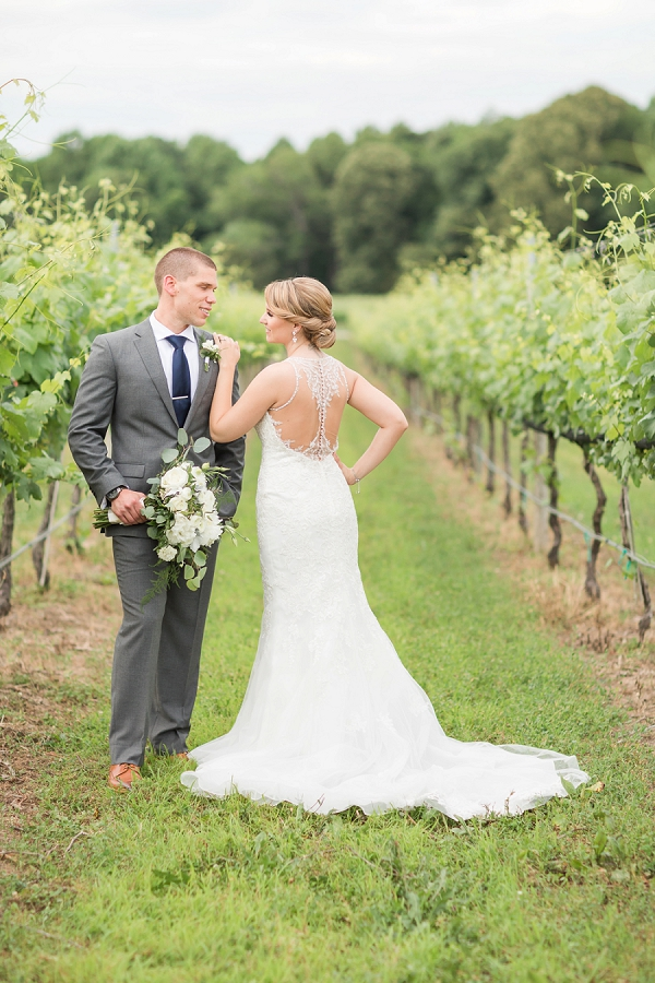 Bride and groom portraits at Williamsburg Winery in Coastal Virginia