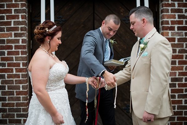Handfasting wedding ceremony in Williamsburg Virginia