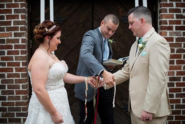 Handfasting wedding ceremony in Williamsburg Virginia