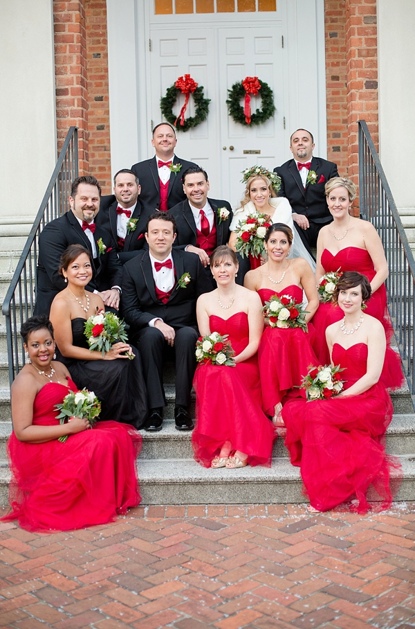 Rustic Red And White Christmas Wedding In Williamsburg Tidewater