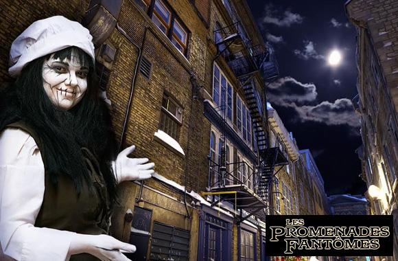À partir de 15$ pour une visite guidée animée avec Les Promenades Fantômes