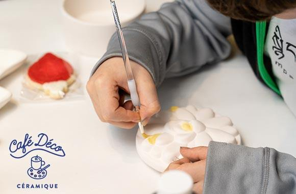 Peinture sur céramique et café