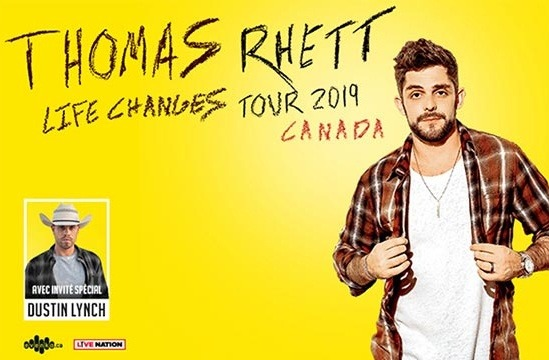 Thomas Rhett au Centre Bell le 24 avril