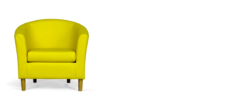 Yellow Faux Leather Tub Chair Tubchairs Com