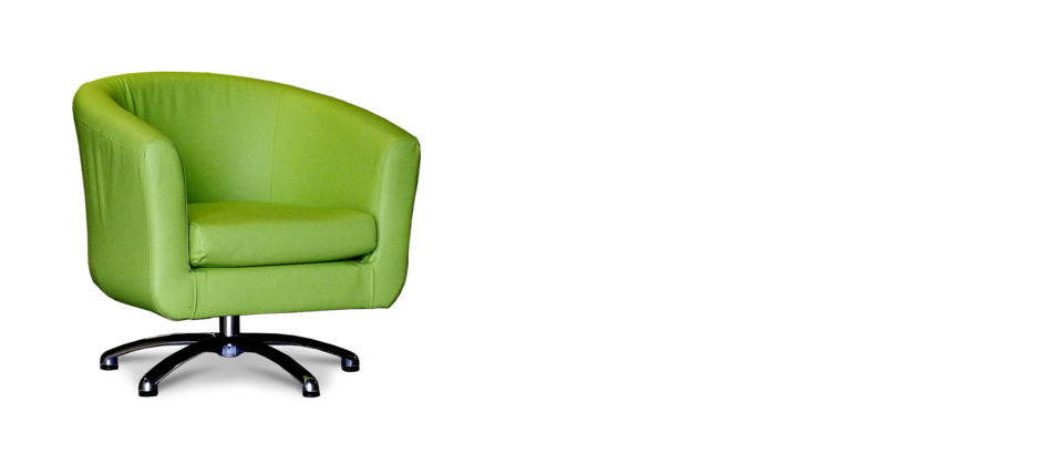 Lime Green Faux Leather Swivel Tub Chair
