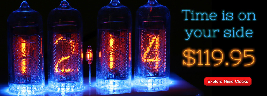 Nixie Clocks at TubeDepot