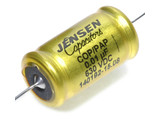 Jensen 0.01µf / 630V Copper Foil Paper-In-Oil Silver Lead Aluminum Case Capacitor