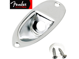 Genuine Fender® Stratocaster Jack Plate - Chrome