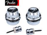 "Genuine Fender® ""F"" Strap Locks - Chrome"