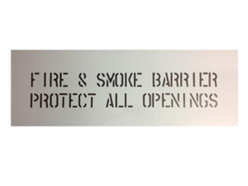Fire & Smoke Barrier Stencil