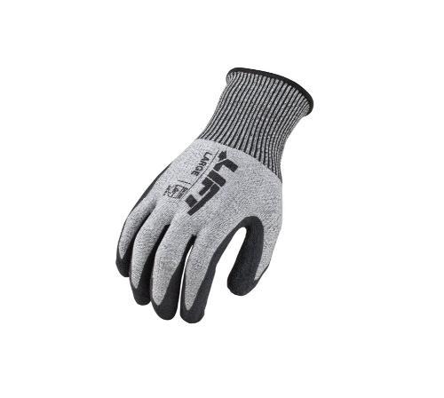 LIFT Safety Fiberwire Crinkled Latex Glove - XL
