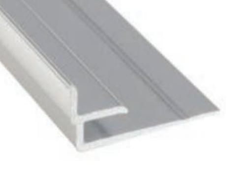 8 ft Marlite Anodized Aluminum Inside Corner Trim - Satin