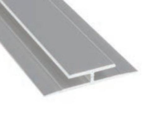 8 ft Marlite Anodized Aluminum Division Bar - Satin