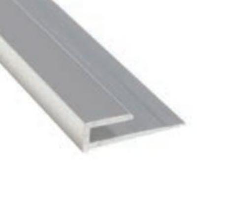 8 ft Marlite Anodized Aluminum Edge Trim - Satin