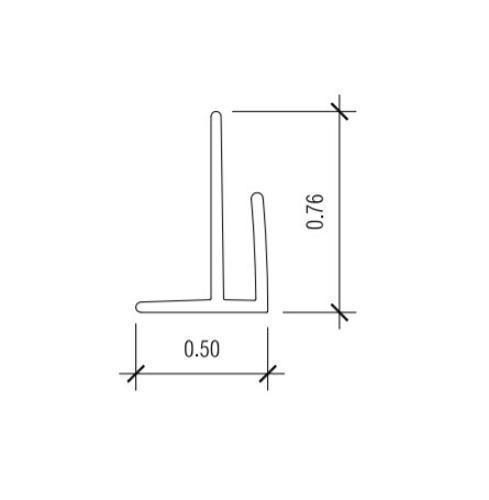 10 ft Nudo V-7 Outside Corner Trim - Gray