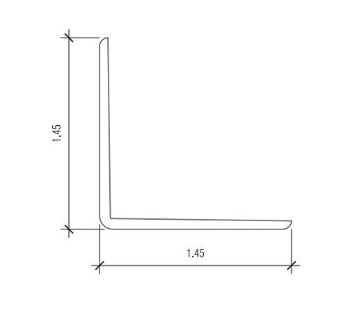 1 1/2 in x 11/2 in x 10 ft Nudo V-123 Outside Corner Angle - Almond