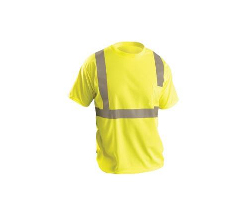 OccuNomix Classic Standard Wicking Birdseye T-Shirt / Yellow - XL
