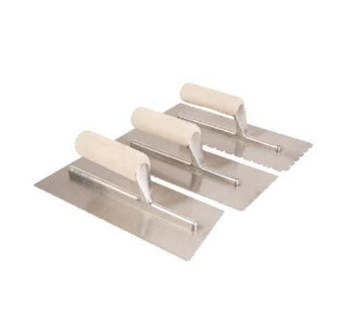 3/16 in x 1/4 in x 1/2 in Roberts Flat V-Notch Trowel