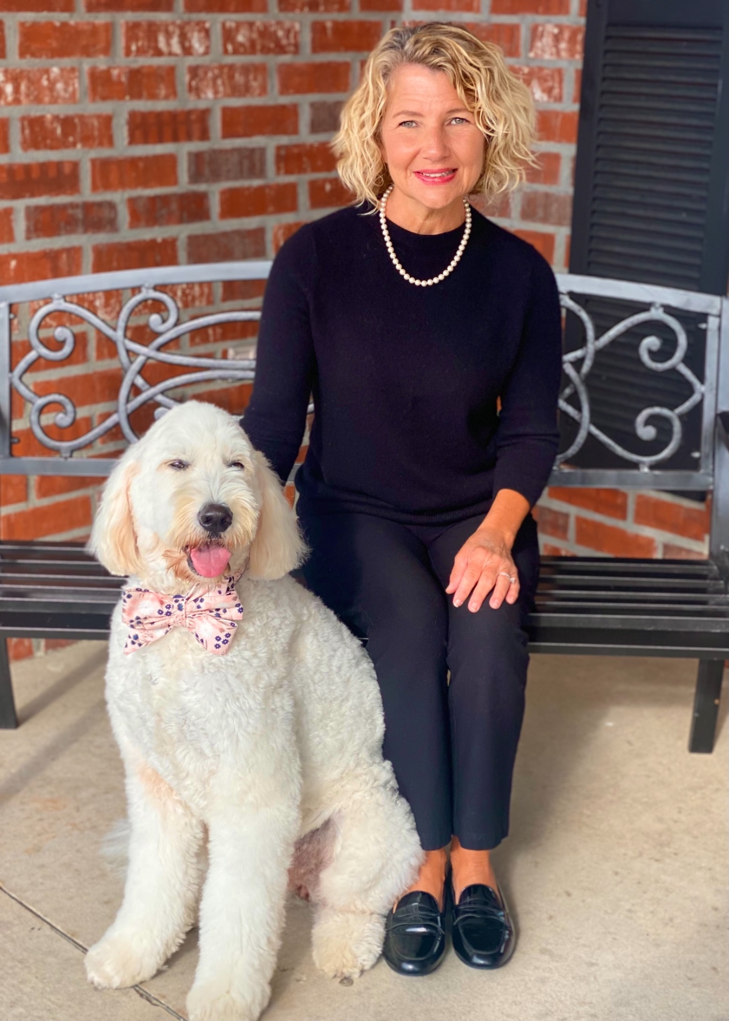 Photo of Angie King & Lucy - Funeral Director - Therapy Dog Handler