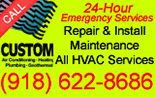 Website for Custom Air Conditioning, Heating & Plumbing