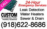 Website for Custom Air Conditioning, Heating & Plumbing