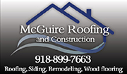 Website for McGuire Roofing and Construction LLC