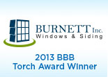 Website for Burnett, Inc. Windows & Siding