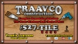 Website for Traavco Construction