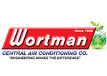 Website for Wortman Central Air Conditioning Co.