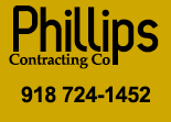 Website for Phillips Contracting Company