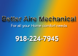 Website for Better Aire Mechanical Heating & Air Conditioning, LLC