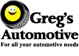Website for Greg's Automotive Service & Tire LLC