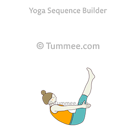 Boat Pose Variation Back Rounded (Navasana Variation Back Rounded)