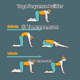 cat cow child pose flow yoga bitilasana marjaryasana