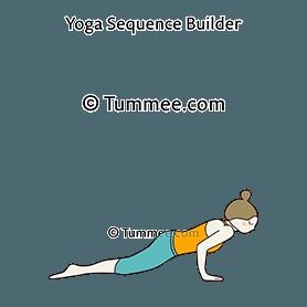 four limbed staff pose knees to floor variation yoga