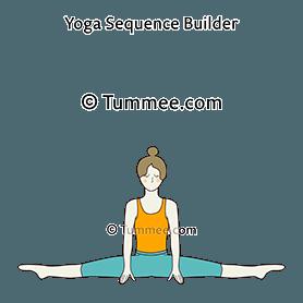 Center Splits Pose Yoga Samakonasana