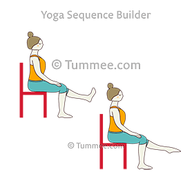 chair flexing foot pose yoga  yoga sequences benefits