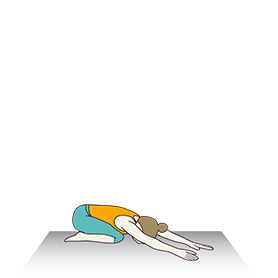 Child Pose Variation Both Arms To Side (Balasana Variation Both Arms To Side)