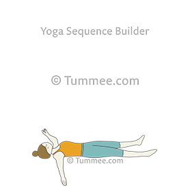 savasana variation arms out yoga corpse pose variation