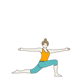 Revolved Crescent Low Lunge Pose Arms Spread Out (Parivrtta Anjaneyasana Arms Spread Out)