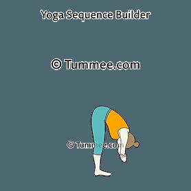 dangling pose yoga baddha hasta uttanasana  yoga