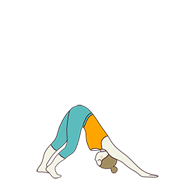 Downward Facing Dog Pose Variation One Knee Bent (Adho Mukha Svanasana Variation One Knee Bent)